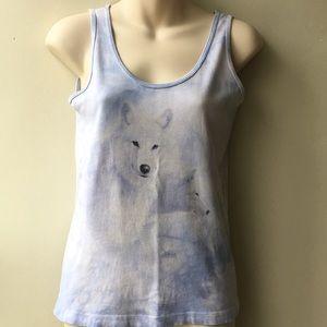 💖White arctic wolves print Tank top